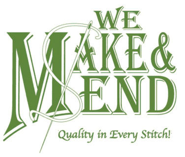 We Make and Mend, quality in every stitch logo